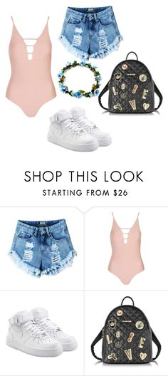 """Untitled #61"" by lauraa-rc25 on Polyvore featuring Topshop, NIKE and Love Moschino"