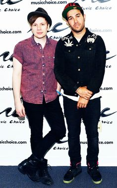 Patrick and Pete<<< Pattycakes looks like an angel. As always. And Pete looks so hot. As always.