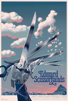 Edward Scissorhands, Laurent Dureux, 24 x 36 Screen print, poodle variant, edition 150 (2016) Numbered