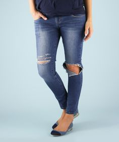 Look at this Madeleine Maternity Vintage Wash Holy Moly Under-Belly Maternity Skinny Jeans on #zulily today!