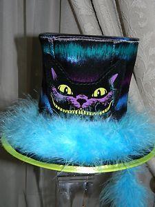 Disney SteamPunk Alice In Wonderland Tea Party CHESHIRE CAT MINI TOP HAT Costume