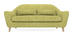 Buy Naples Large Sofa (3 Seats) Antique Velvet Green Low Retro Tapered - Light from the Next UK online shop
