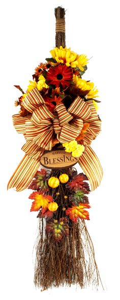 Harvest Blessings Cinnamon Broom #thanksgiving #craft