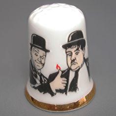 Porcelain Thimble Lauer & Hardy