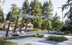 Salon extérieur au parc Glen à Coquitlam en Colombie-Britannique