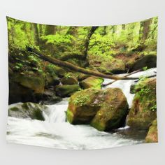 Forest Green Wall Tapestry
