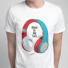 Music To My Ears Headphones T Shirt