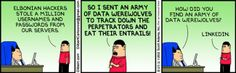 Dilbert: a use case for LinkedIn you never knew :-) #fun #humor