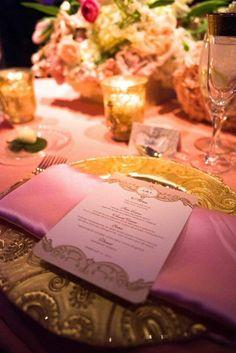 wedding menu card idea; Cote Style Weddings