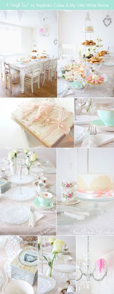 A Charming High Tea Party. When Bestie gets home, we're doing this!!!