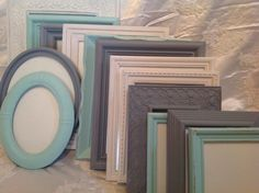 Shabby Chic Picture Frame Set Ornate Mix Custom Colors And Sizes Vintage Frames Upcycled Nursery Frame Set by Upcycledfairies on Etsy https://www.etsy.com/listing/271487091/shabby-chic-picture-frame-set-ornate-mix