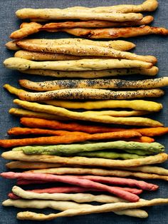 multicoloured breadsticks for your 'This is the Dawning of Aquarius' party