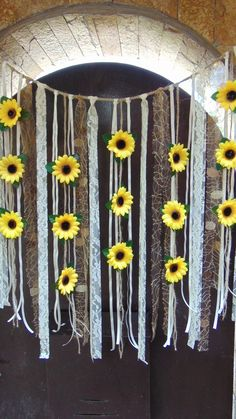 Sunflower Wedding Decor, Sunflower Garland, Bridal Shower Decor, Silk Flower Garland, Bridal Shower – Famous Last Words Flower Wall Backdrop, Wall Backdrops, Sunflower Birthday Parties, Sunflower Room, Sunflower Cakes, Sunflower Wedding Cakes, Wedding Sunflowers, Sunflower Bouquets, Sunflower Flower