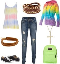 """""""Rainbow"""" by caf2403 on Polyvore"""