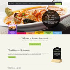 Seasons is an elegant WordPress theme with a layout and features that perfectly suits for restaurants, bars, cafe's and other businesses from the food related industry.