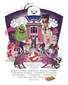 Ghostbusters Movie Poster Print by TheBeastIsBack.deviantart.com on @deviantART