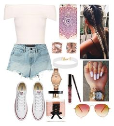 Carnival w/ Friends by emily5302 on Polyvore featuring polyvore, fashion, style, T By Alexander Wang, Converse, GUESS, Carolee, Vanessa Mooney, Steve Madden, Victoria's Secret, Kylie Cosmetics and clothing
