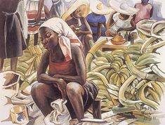 Lois Mailou Jones - Banana Vendors, 1985