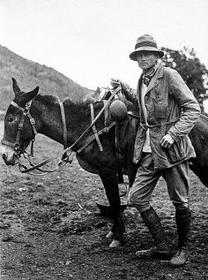 "Hiram Bingham, The real Indiana Jones, 1911   ""Hiram Bingham (1875–1956) was an American academic, explorer and treasure hunter and politician. He obtained a B.A. from Yale University and a PhD from Harvard. Bingham was not a trained archaeologist, yet it was during Bingham's time as a lecturer – later professor – at Yale that he discovered the largely forgotten Inca city of Machu Picchu. """