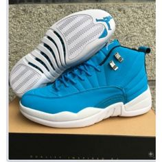 dce425cbcbb Air Jordan 12 Retro Light Blue Discount Nike Shoes