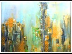 Abstrakte Malerei lernen, painting abstract, Großstadt, City - YouTube