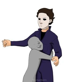 Michael with a 🅱️ Slasher Movies, Horror Movie Characters, Horror Movies, Scary Funny, Funny Horror, Michael Myers Drawing, Jake Park, Horror Drawing, Draw The Squad