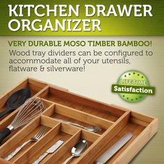 Great addition to your kitchen drawer or pantry - cleans up nicely with a quick wash in warm water #baboonbamboo