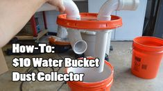How To Make a Cyclone Dust Collector for Your Shop Vacuum Dust Collector Diy, Shop Dust Collection, Dust Collection Systems, Water Bucket, Diy Shops, Wood Dust, Woodworking Tips, Diys, Workshop Ideas