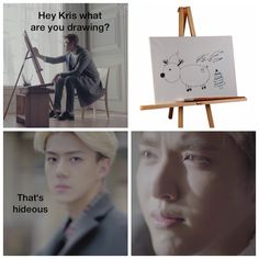 wow, Sehun. At least be nice about how you tell him…lol