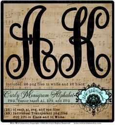 Curly Monogram Alphabet, Monogram SVG Alphabet, Monogram Letters SVG, Vector, ai,png, eps, png,  Patterns,Overlays, Silhouettes, is available at $4.50 https://www.etsy.com/listing/210443177/curly-monogram-alphabet-monogram-svg?utm_source=socialpilotco&utm_medium=api&utm_campaign=api #art    #cuttingmat #cricutmachine #stationary #cricutexploreair #papercrafting #papercraft #cricutexplore #crafts #stationery #cricutforsale  #kraftpaper #cardmaking #etsy #etsysellers #silhouettecameo…