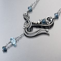 BlueTopaz Hook Necklace - published in Necklaces by sarahndippityDownload original image from Flickr