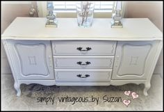 simply vintageous...by Suzan: Hutch Makeover - before and HALF - ter