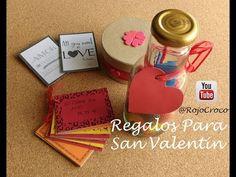 Regalos Para San Valentín DIY - YouTube Youtube, Love You, Diy, Santos, Valentines, Je T'aime, Bricolage, I Love You, Do It Yourself