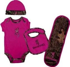 Browning Baby Fuchsia Camo Set for my baby girl!!! Daddy will love!