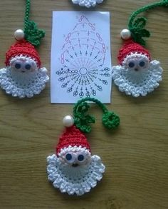 "Hobby Uncinetto ""crochet - graph only - if hard to see wil in larger graph on this board - CHRISTMAS - CROCHET"", ""Learn to knit and Crochet with Jeanett Diy Christmas Angel Ornaments, Crochet Christmas Decorations, Christmas Crochet Patterns, Crochet Christmas Ornaments, Crochet Decoration, Crochet Santa, Crochet Wool, Wool Yarn, Crochet Doll Tutorial"