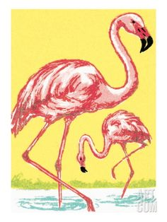 Flamingo Art Print by Pop Ink - CSA Images at Art.com