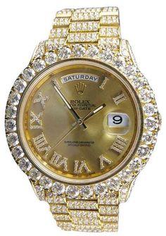 Rolex Day-Date II 41mm President 228238 18K Rose Gold 30.5Ct Total Diamonds 41mm Watch