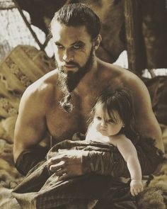 Drogo and their adorable dream baby! <-- literally the cutest