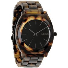 Nixon Time Teller Tortoise-Print Acetate Watch $125