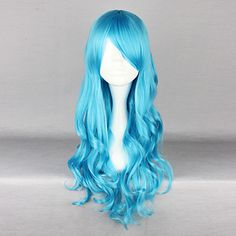 Turquoise Blue 70cm Classic Lolita Curly Wig – USD $ 29.99