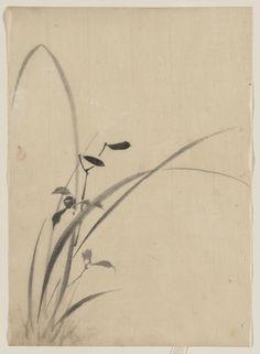 葛飾 北斎 Katsushika Hokusai (1760 - 1849) Grasses, between 1830 and 1849