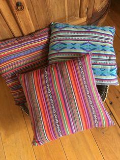 Mexican Ibiza pillows geweven stof handmade by Blonde Krullen Homedeco