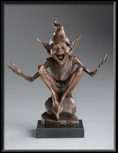 Goblin la miniature de Isabel - David Goode Bronze Sculpture