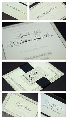 Traditional Initial Wedding Invitation
