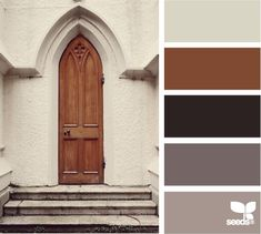 """door tones - Like the combo of black, grey and brown. That particular brown is too """"orangey"""" tho. It would have to change a bit."""