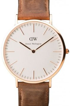 Cardiff, Light Brown Leather Strap