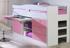 Hochbett >>Robby<< My Room, Girl Room, Girls Bedroom, Bedrooms, Toddler Bed With Storage, Princess Room, New Beds, Bed Storage, Storage Ideas