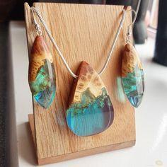 Necklace and earring set by artfulresin handmade. Artfulresin.etsy.com