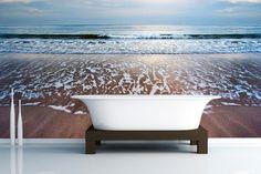 Pin it to win it – £250 Mural Giveaway Lapping Shore Wallpaper Mural Refreshing, calming, relaxing & stunning view!