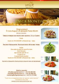 Pasta Month Specials - Sun Garden Resort Sun Garden, Celebrations, Healthy Eating, Relax, Pasta, Explore, Dining, Eating Healthy, Food